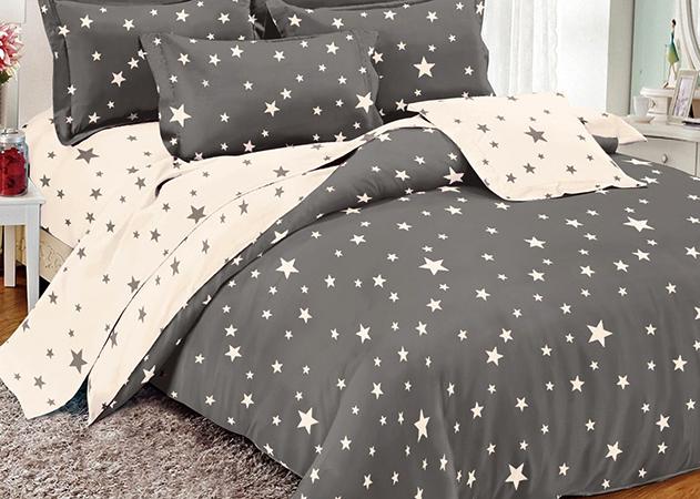 Красивое постельное белье из поплина