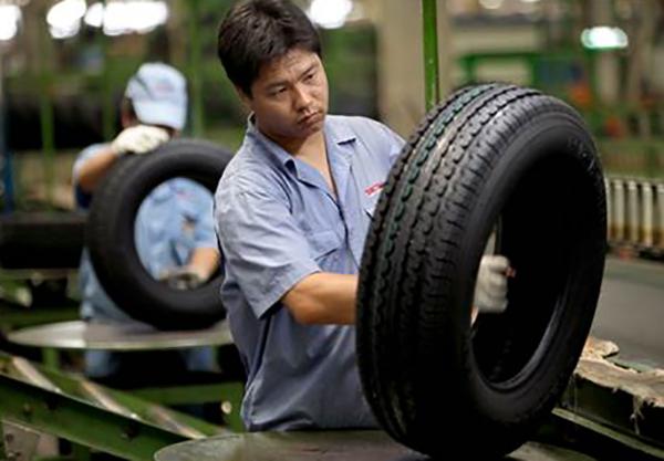 Производство шин в Китае