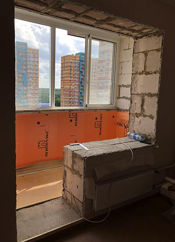 Ремонт и объединение комнаты с лоджией
