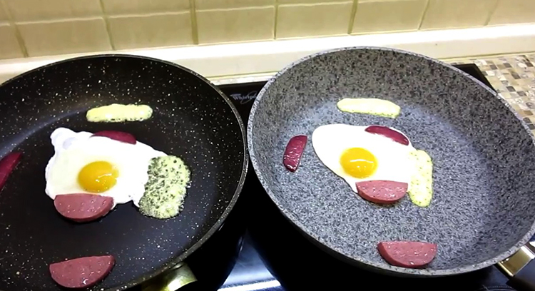 Приготовление яичницы