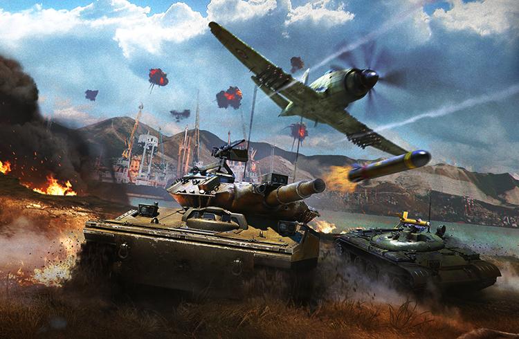 Сражение в игре War Thunder