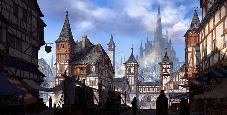 Город средневековья