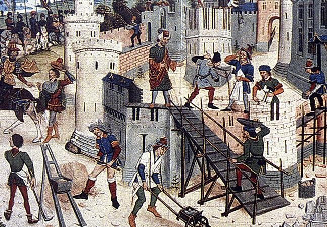 Люди в средневековом городе