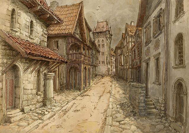 Классический средневековый город