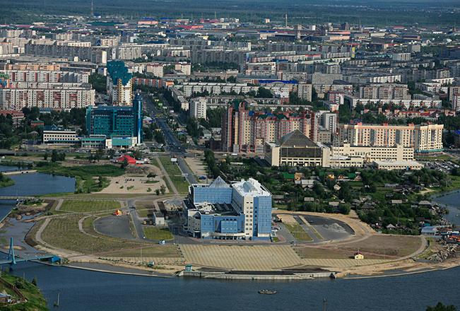 Вид на город Сургут