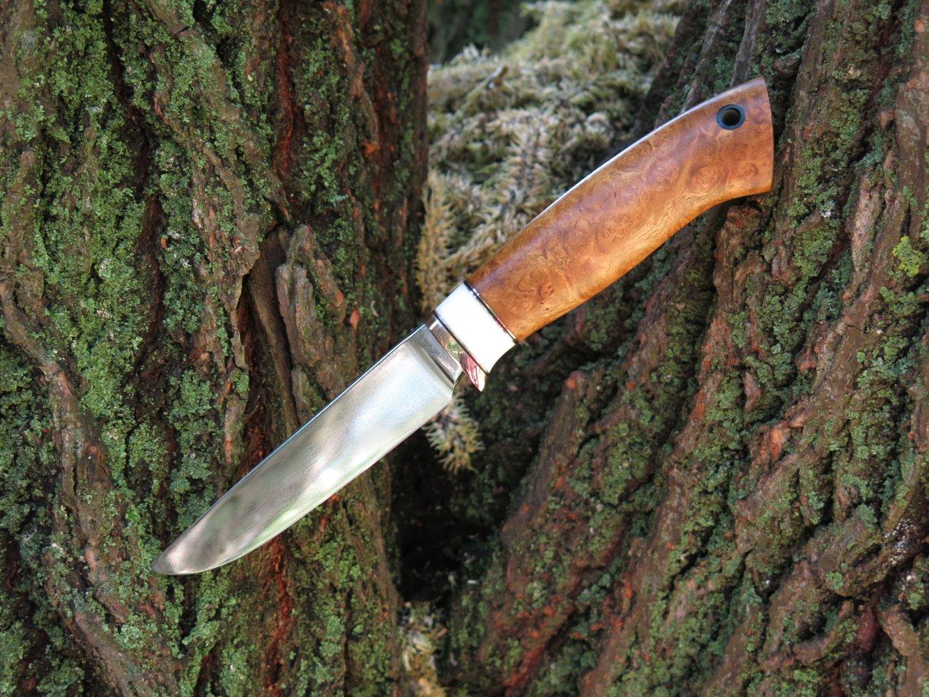 Ручной нож со сталью к340