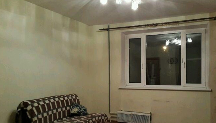 В квартире нет балкона