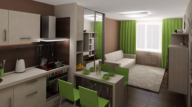 Квартира-студия без балкона