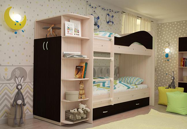 Современная двухъярусная кровать