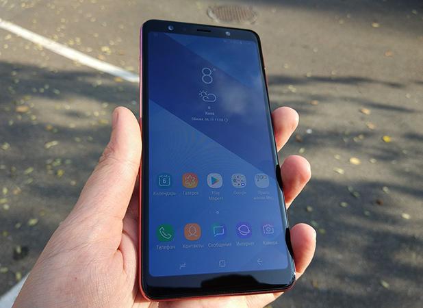 Samsung Galaxy A7 в руках