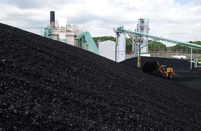 Много угля