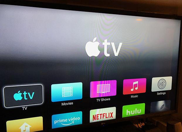 Apple TV в работе