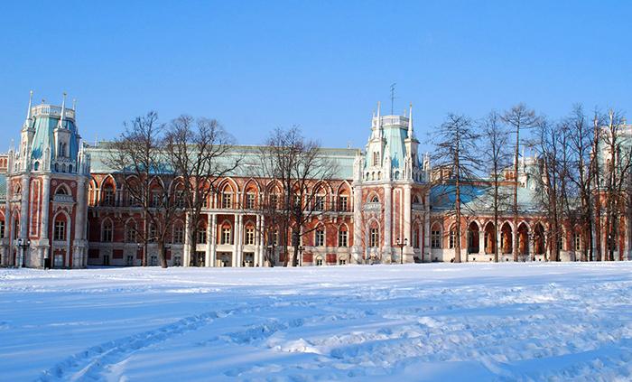 Красивый зимний Царицыно