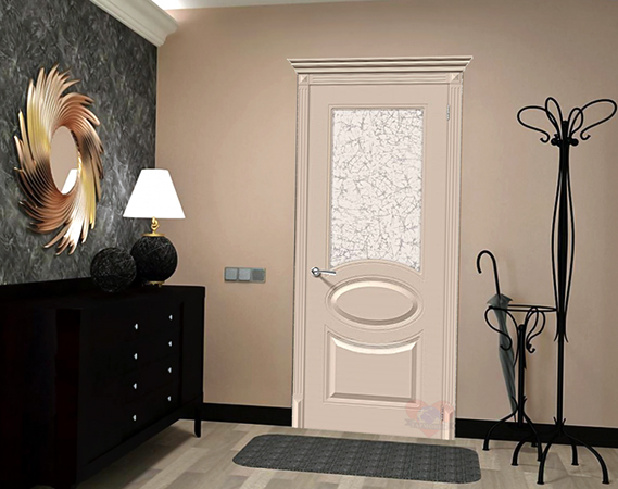 Новая эмалированная дверь