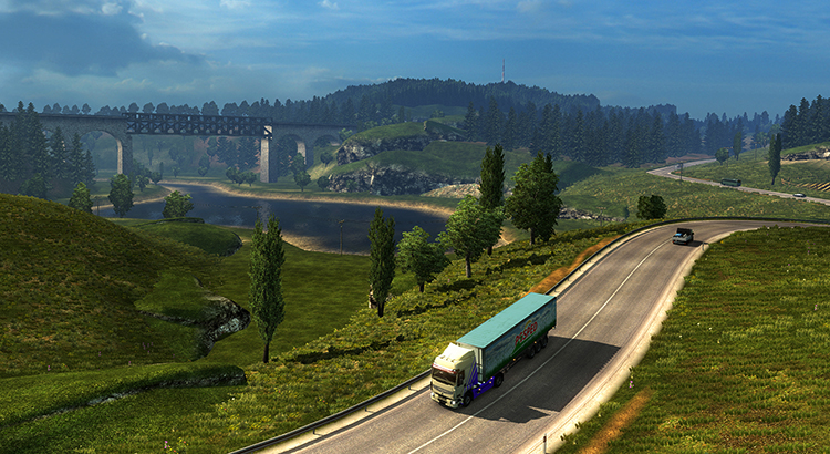 В игре Euro Truck Simulator 2