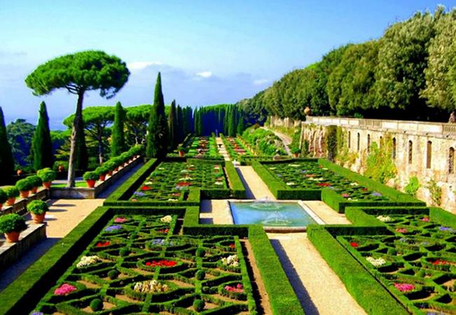 Красивые сады Ватикана