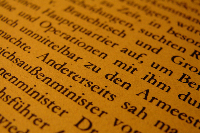 Текст на немецком
