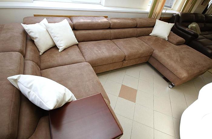 Новый диван из искусственной замши