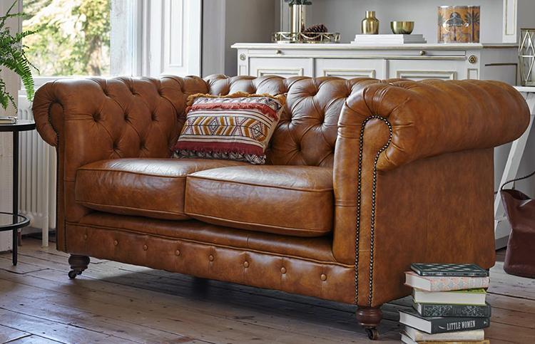 Современный кожаный диван