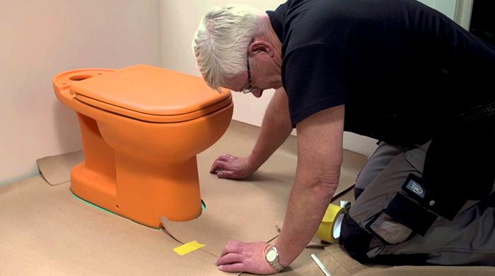 Укладка ламината в туалете