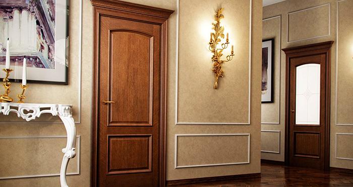 Установленные двери из МДФ