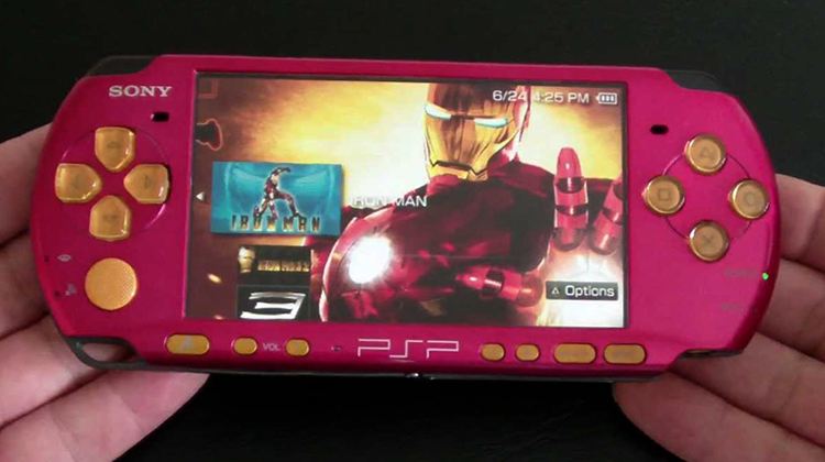 Розовая PlayStation Portable