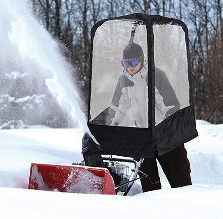 Использование снегоуборщика