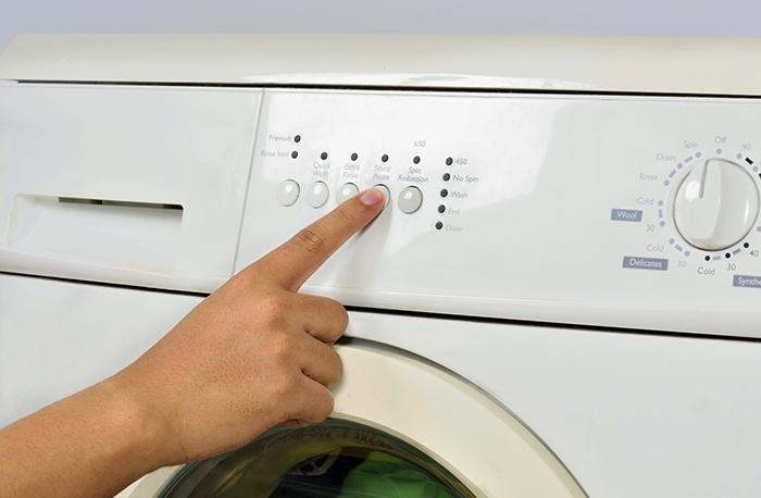 Работа со стиральной машинкой