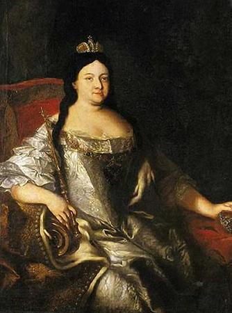 Анна Иоанновна на престоле