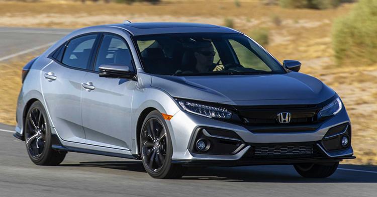 Honda Civic на дороге