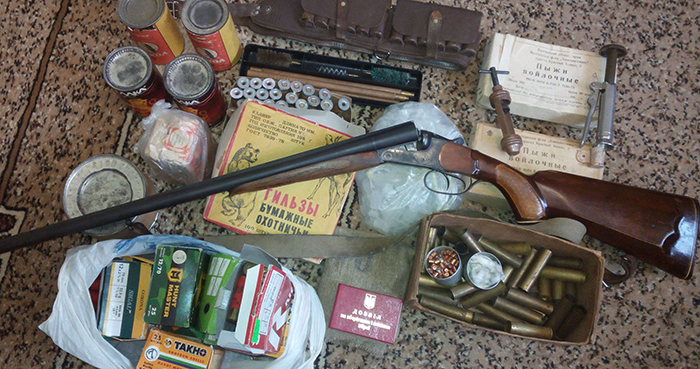 Старое ружье 16 калибра