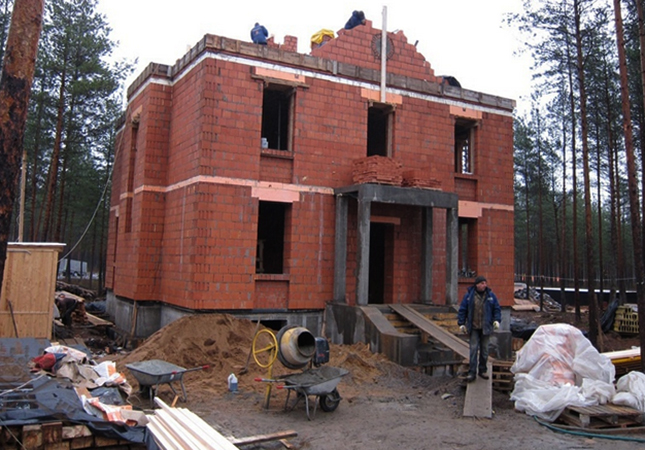 Строительство из керамического кирпича