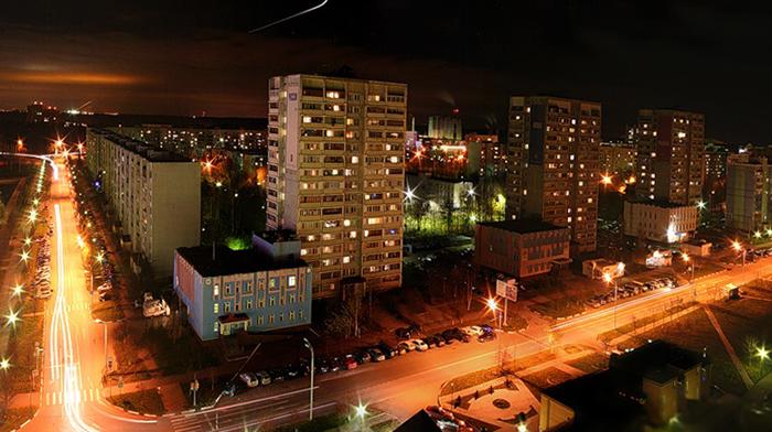 Ночной Краснознаменск