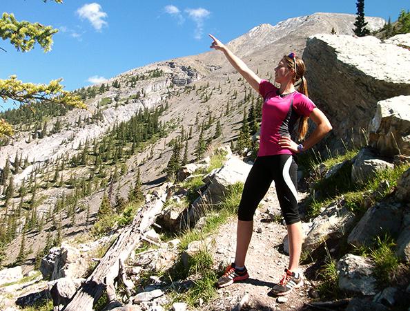 Женщина в горах