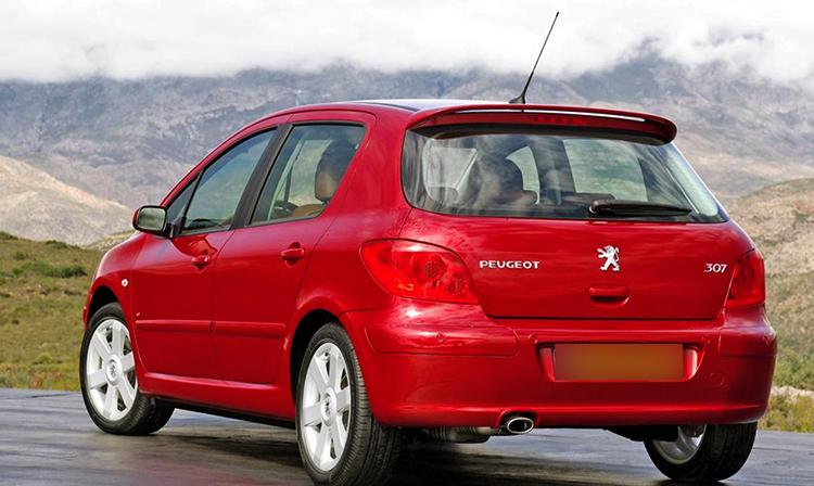Peugeot 307 на дороге
