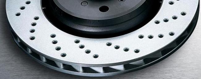 Вид перфорированного тормозного диска