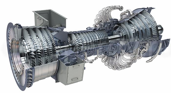Газовая турбина в разрезе