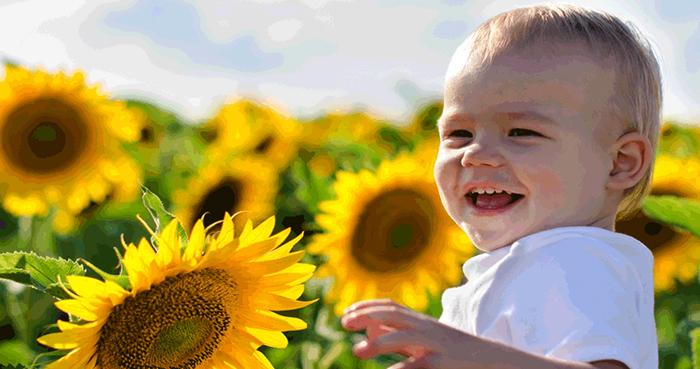 Ребенок получает витамин D