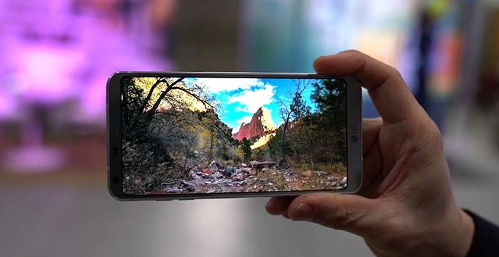 Съемка на LG G6