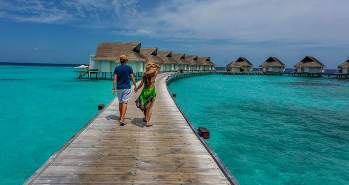 Туристы на Мальдивах