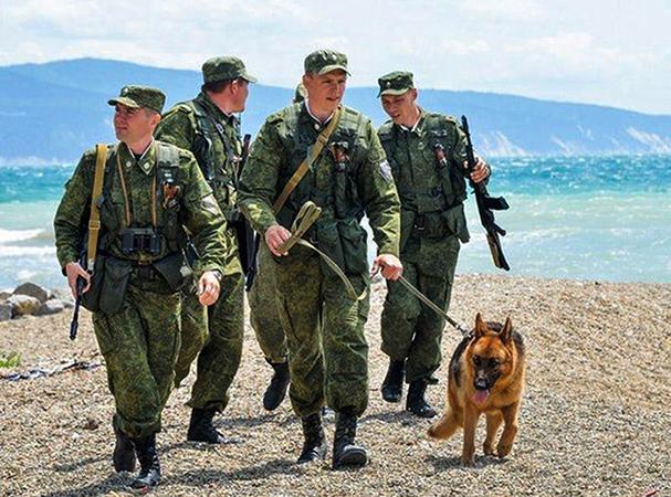 На службе в пограничных войсках