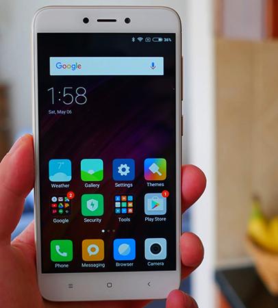 Xiaomi Redmi 4X  спереди