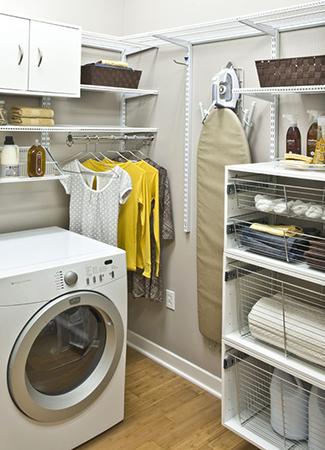 Установка стиральной машины в гардеробной