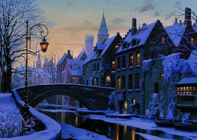 Брюгге зимой