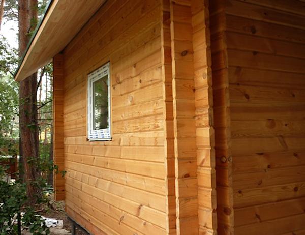 Новый дом из шпунтованного бруса