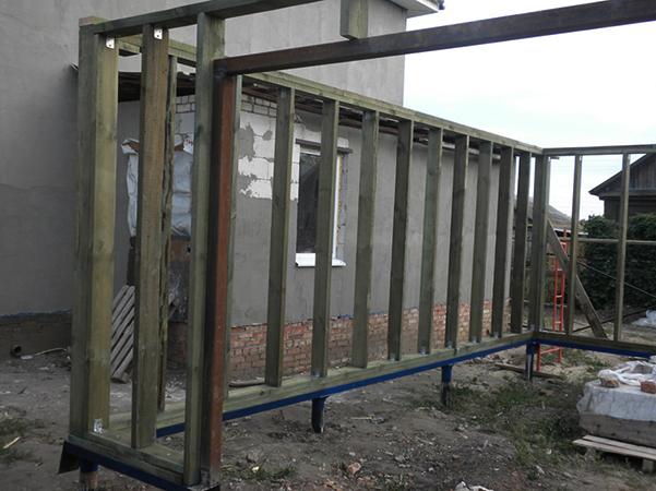 Строительство гаража на винтовых сваях