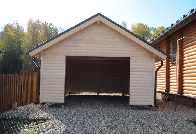 Новый гараж на винтовых сваях