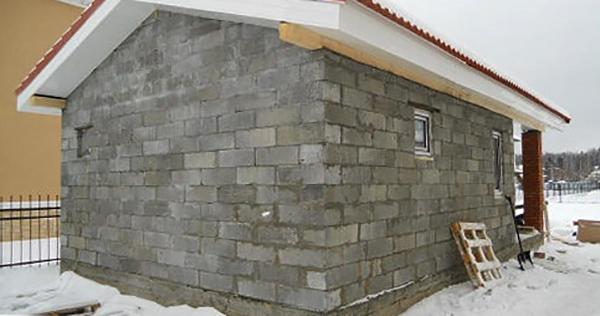 Строительство бани из пескоблока