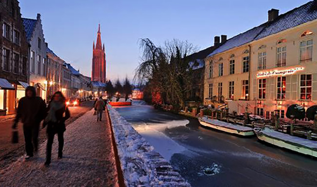 Прогулка по зимнему Брюгге