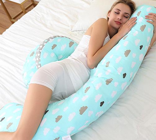 Беременная с подушкой